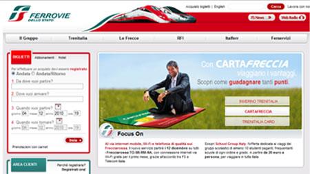 Home page Ferrovie dello Stato