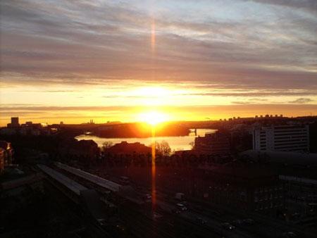 l'alba a Stoccolma