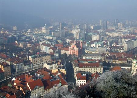 Veduta dal castello di Ljubljana