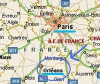 mappa cartina Francia Orleans