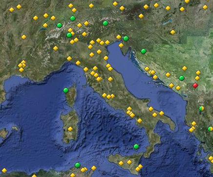 siti italiani unesco mappa