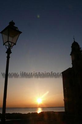 tramonto a Camogli