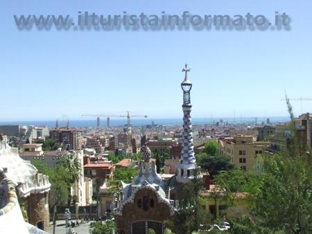 Vista da Parc Guelle Barcellona
