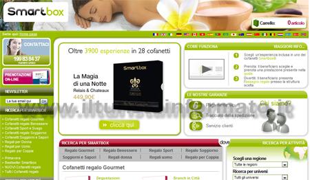 Smartbox Home Page del Sito