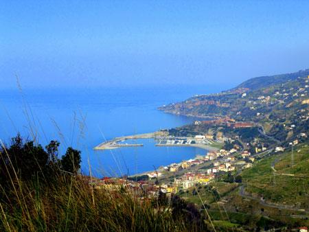 panorama di Cetraro sul Mar Tirreno