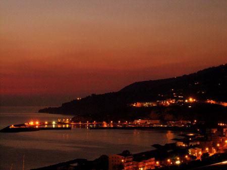 tramonto Mar Tirreno