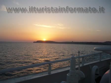 Gozo - tramonto dal traghetto