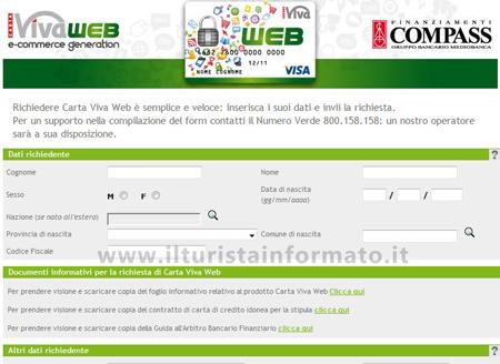 Carta Viva Web_modulo richiesta