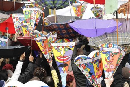 Carnevale di Fano - Il getto