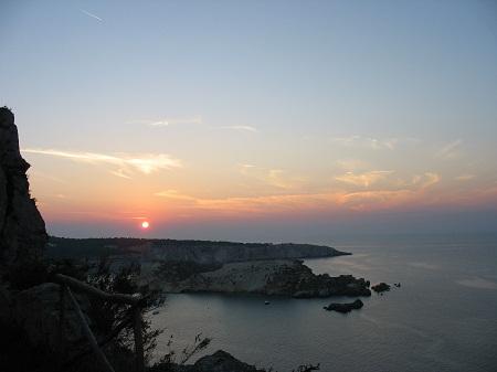 Isole Tremiti - tramonto dalla Tagliata - autore Cristina De Vita
