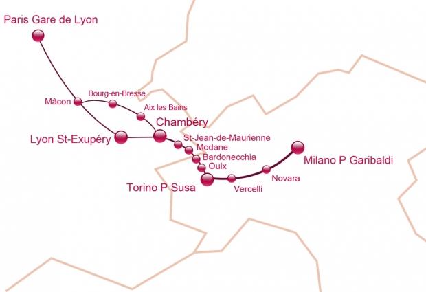 Il percorso in treno