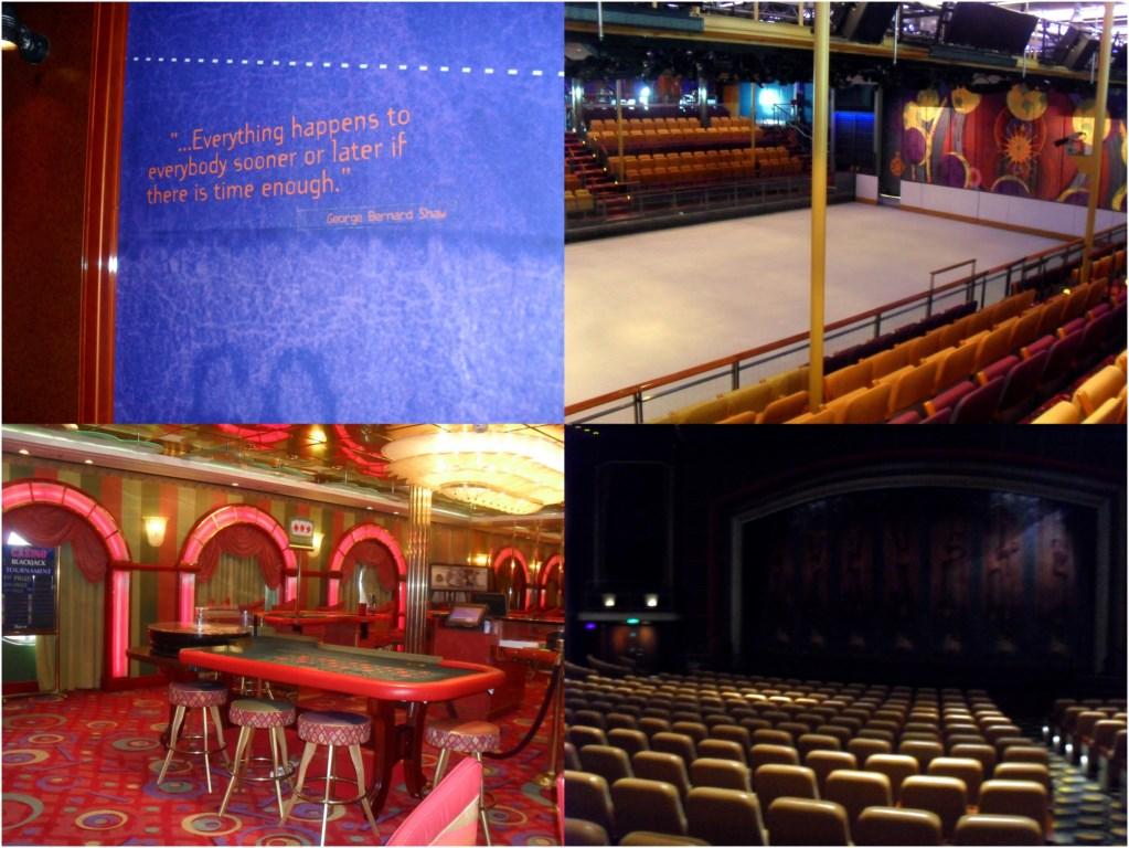 Pista di ghiaccio, casinò e teatro