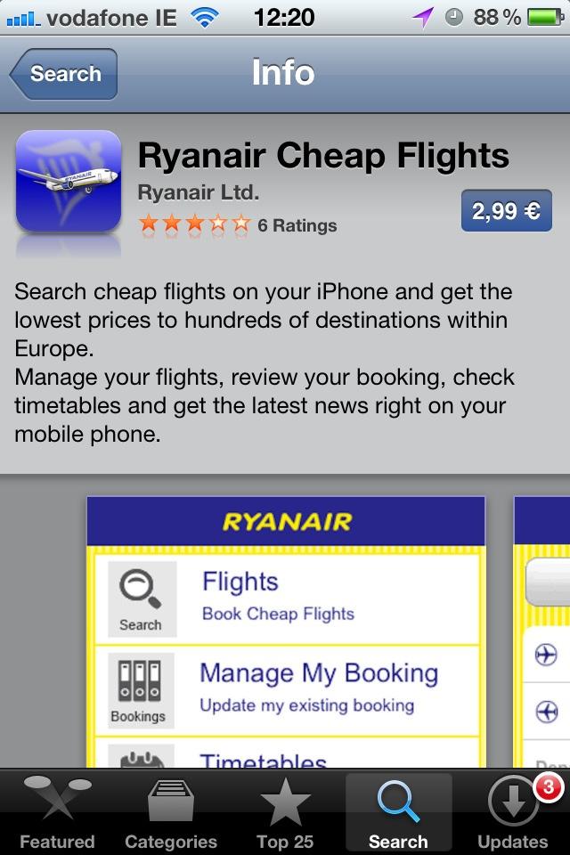 L'App di Ryanair