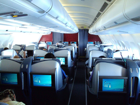 Business Class su un volo LAN