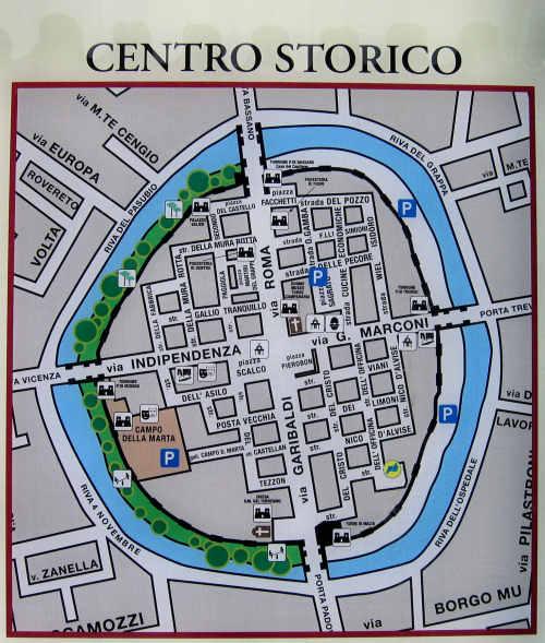 Mappa del centro di Cittadella