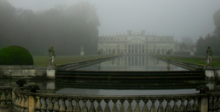 Parterre centrale di Villa Pisani