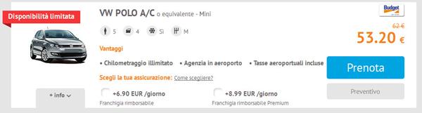 Scelta auto Budget su Autoescape.it