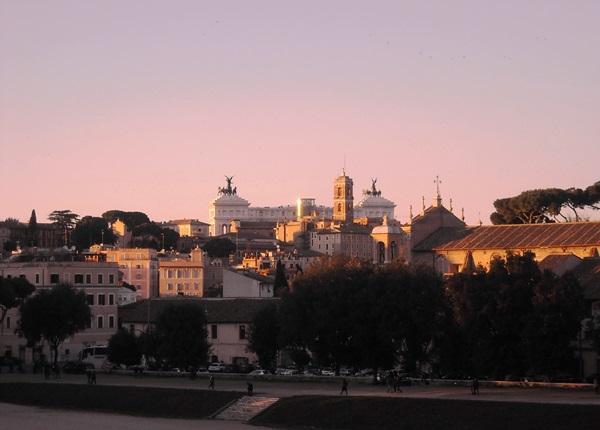 Vista sul Circo Massimo dall'Aventino Fonte L'Asino d'Oro