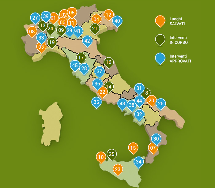 Mappa Luoghi Salvati