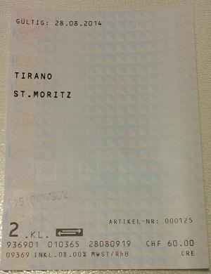 Biglietto Bernina Express
