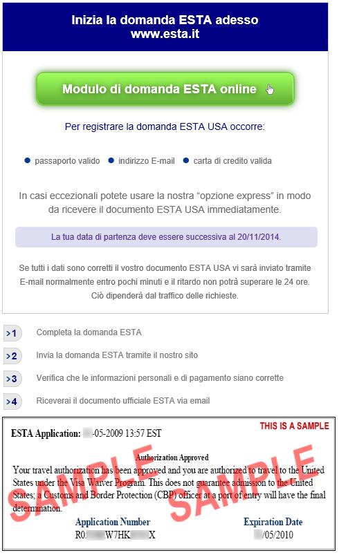 info per modulo ESTA