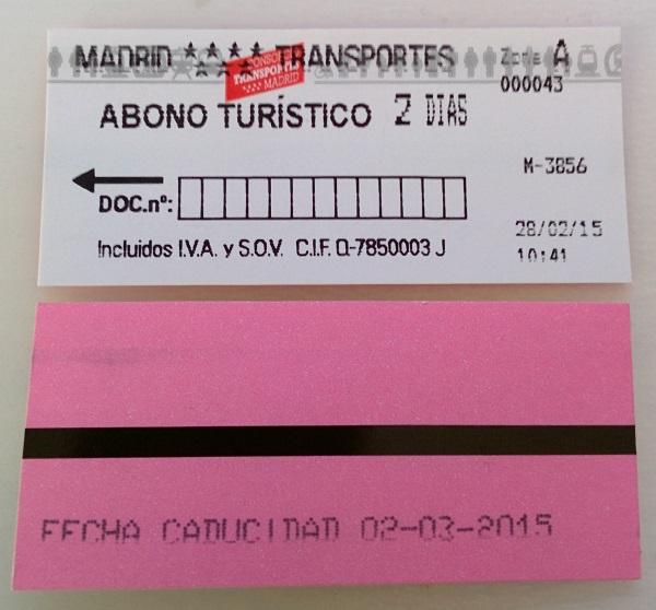 Abono Turistico Madrid