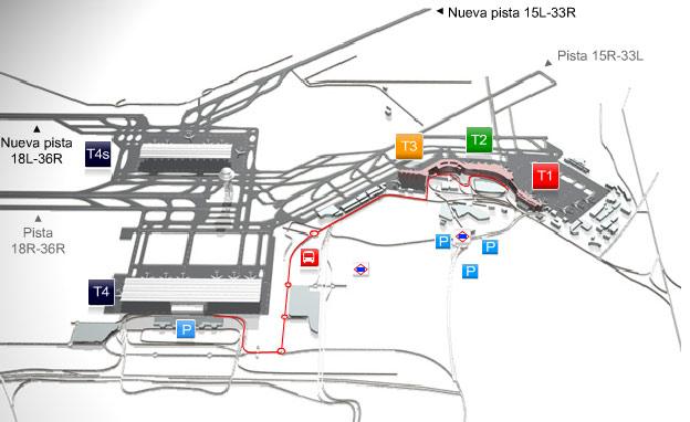 Mappa aeroporto di Madrid
