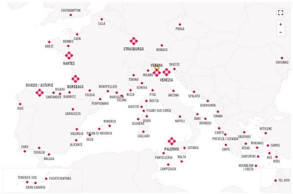 Mappa Volotea