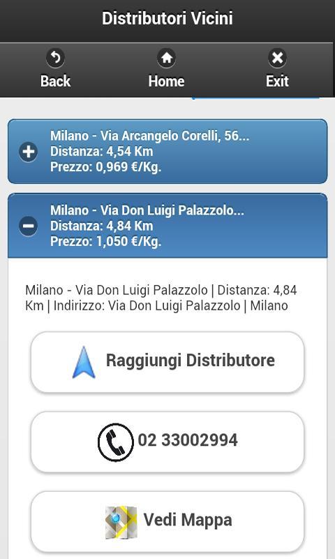 App Cerca Distributori Metano