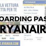 Boarding Pass Ryanair