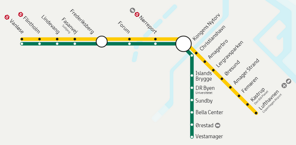 Metro M2 Copenaghen