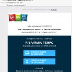 Email online check in Ibis hotel