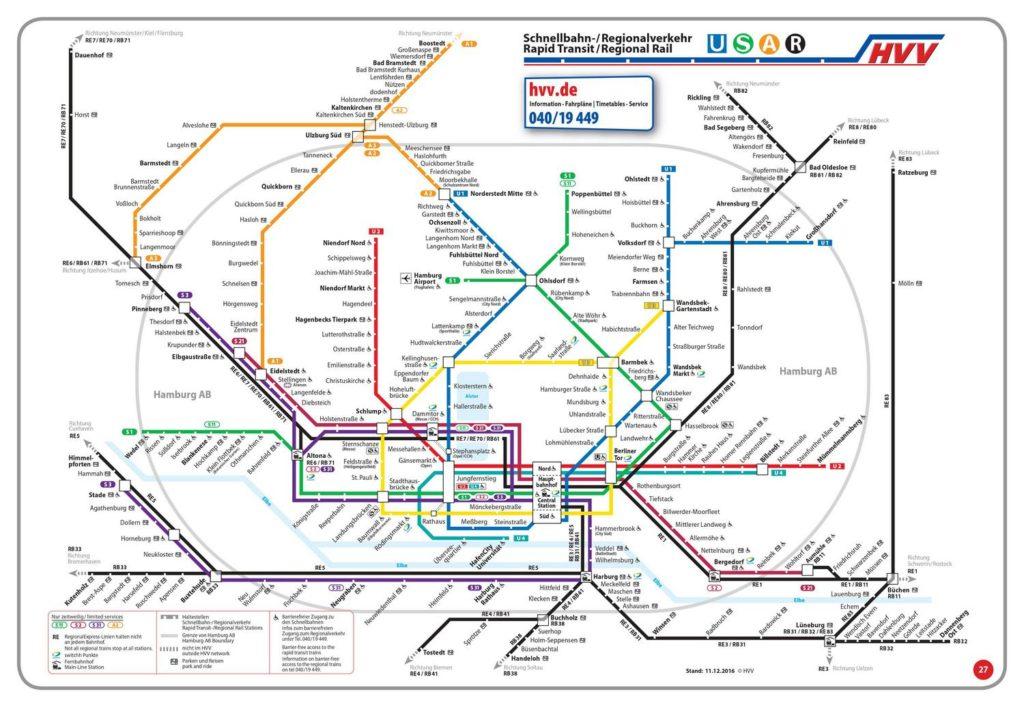 Mappa mezzi Amburgo